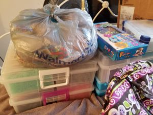 Rainbow Loom bands, supplies, storage, and handmade items for Sale in Amelia, OH
