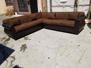 NEW 9X9FT CHOCOLATE MICROFIBER COMBO SECTIONAL COUCHES for Sale in La Mesa, CA