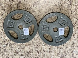 """CAP Set Of Two (2) 10 lb a Weight Plates (20 lb Total) 1 """" Inch for Sale in Decatur, AL"""