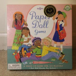 Paper doll game eeboo for Sale in Germantown, MD
