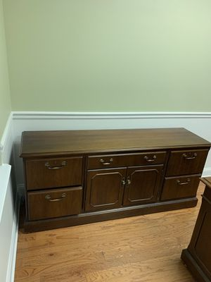 Free desk and file dresser for Sale in Reston, VA