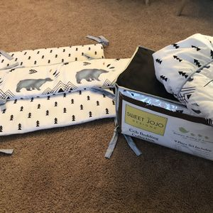 Sweet Jojo 10-piece Nursery Bedding Collection for Sale in Plainfield, IL