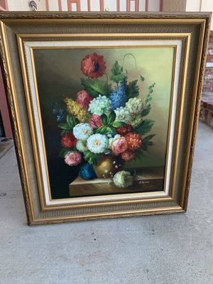 Oil painting on canvas with frame for Sale in Diamond Bar, CA