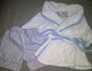 Build a bear robe and pajama pants for Sale in Phoenix, AZ