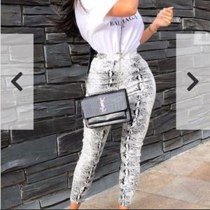 Snake Print Leggings Faux Leather for Sale in San Diego, CA