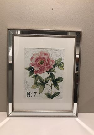Mirrored Frame Flower Picture Art for Sale in Greenville, SC