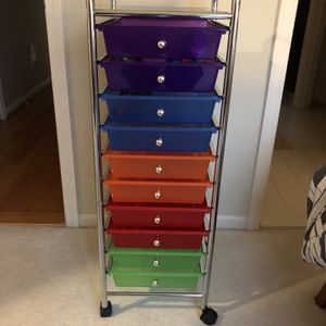 New 10 Drawer Rolling Storage. Great For Office, Childs Room Or For Crafts for Sale in Novi, MI