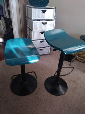 Pair( turquoise )bar stools for Sale in Delray Beach, FL
