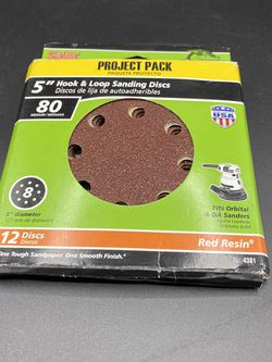 """Gator 5"""" Hook & Loop Sanding Discs #80 (12 Ct) -new other- for Sale in Peoria,  IL"""