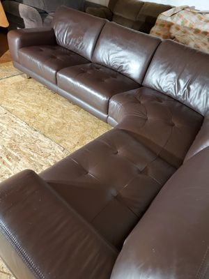 Modern leather couch for Sale in Lynnwood, WA