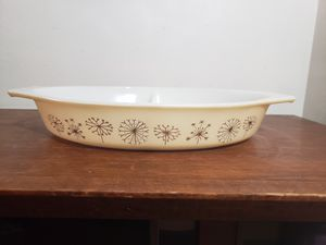 Pyrex Golden Dandelion divided dish for Sale in Hyattsville, MD