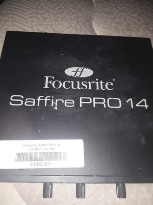 Focusrite Saffire Pro 14 Audio Interface for Sale in Hurst, TX