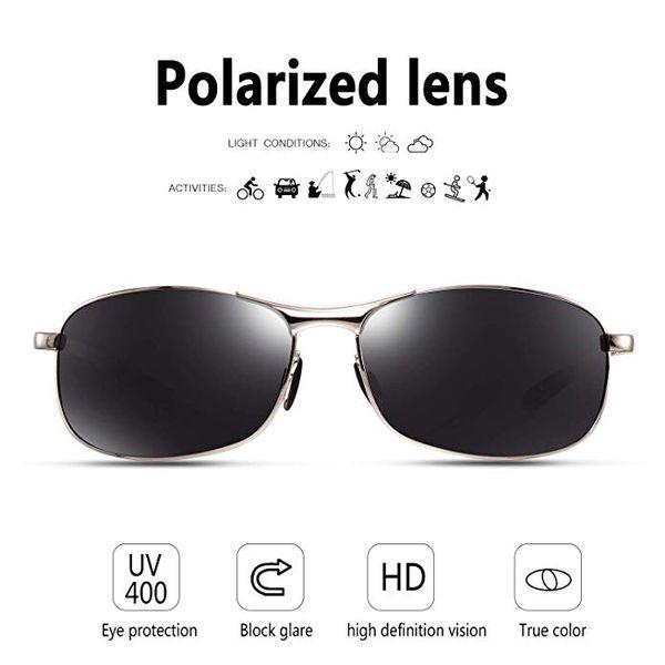 065c8d91ff96 New Rectangular Sport Polarized Sunglasses for Men - Feirdio Mens ...