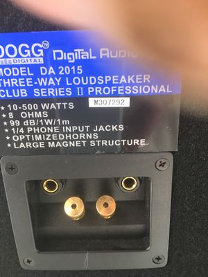 DOGG DIGITAL AUDIO 3way speaker club series's was for Sale in San Francisco, CA