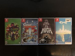 Nintendo Switch 4 Games, TPU Case and 18 Games Holder for Nintendo Switch for Sale in Aurora, CO