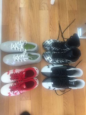 4 pairs under armour cleats ($15/ pair or $50 all ) for Sale in Milwaukie, OR