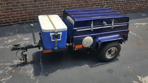 Pull behind motorcycle trailer with its own music system inside space inside is 23x38x12 for Sale in Philadelphia, PA