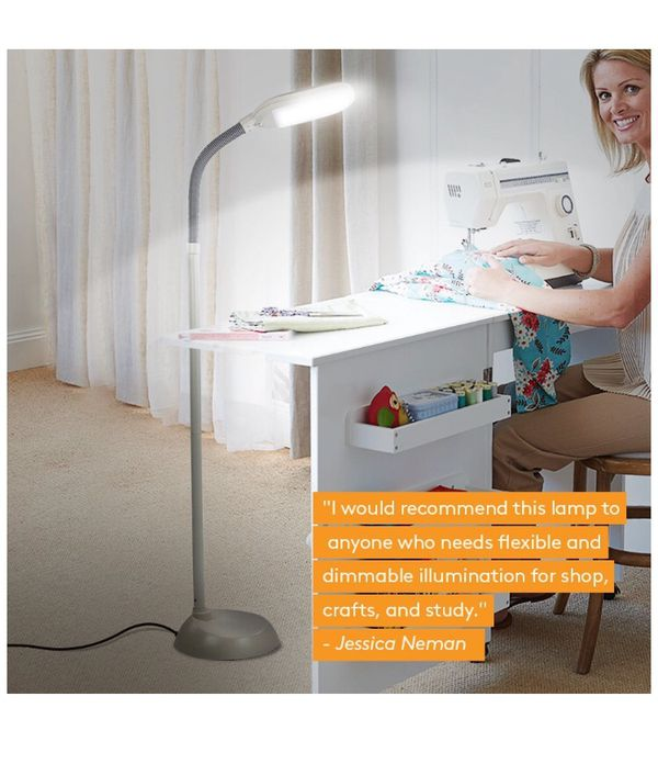 LED reading and craft floor lamp