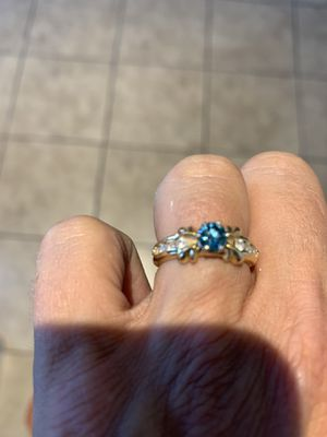 Matching blue diamond ring and bracelet for Sale in Laveen Village, AZ