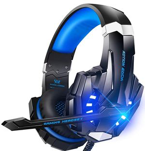 Stereo Gaming Headset for PS4, PC, Xbox One Controller, Noise Cancelling Over Ear Headphones with Mic, LED Light, Bass Surround, Soft Memory Earmuffs for Sale in Las Vegas, NV