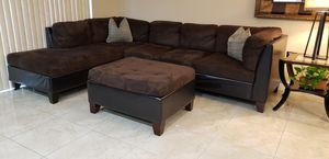 Sectional Sofa with Ottoman for Sale in Miami, FL