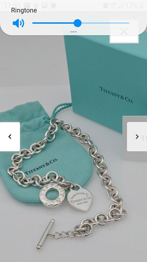 Authentic Tiffany & Co. Return to Tiffany® Heart Tag Toggle Necklace with Tiffany with Gift Box for Sale in Sanford, FL