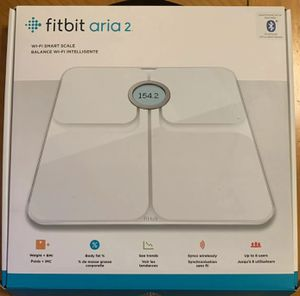 Fitbit Aria 2 Wi-Fi Smart Scale White with receipt for Sale in Portland, OR