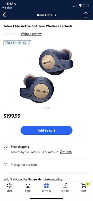 Unopened Jabra GN active 65t wireless headphones Copper Blue for Sale in Salt Lake City, UT
