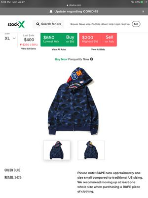 blue bape hoodie for Sale in Queens, NY