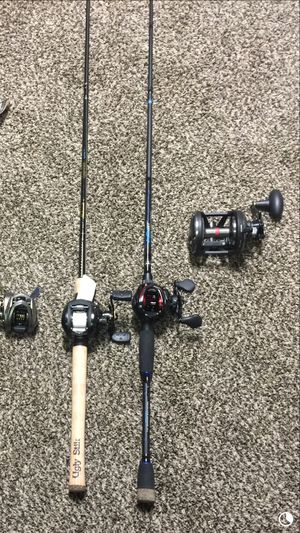 Fishing reel combos penn warfare 30 new two to choose from for Sale in Dinuba, CA