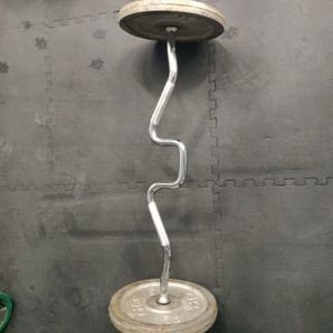 Curl Bar With Weights, And Perfect Push Ups for Sale in Riverside, CA