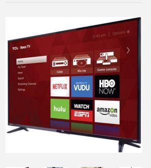 """TCL 55"""" Class 4K (2160P) HDR Roku Smart LED TV (55S401) Factory Refurbished-LEASING available for Sale in Dallas, TX"""