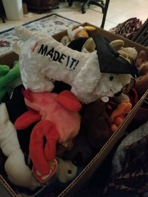 100 brand new beanie babies with tags for Sale in Fort Lauderdale, FL