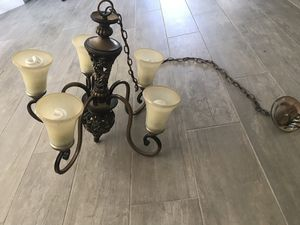 Bronze Hampton Bay chandelier for Sale in Palm Harbor, FL