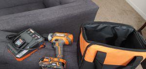 Brand new Rigid 18v cordless drill set for Sale in Cincinnati, OH
