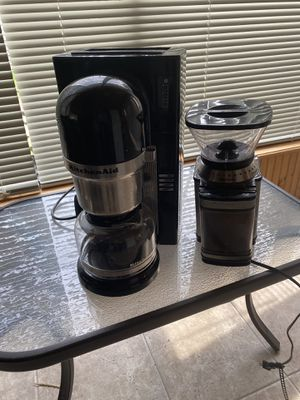 kitchen aid coffee maker and coffee grinder for Sale in Skokie, IL