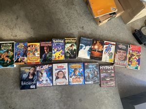 Movies - lot - vhs and dvd - selling together for Sale in Sylmar, CA