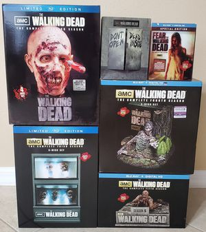 The Walking Dead (Seasons 1-5) Blu-Ray Collector's Editions + FTWD for Sale in Tampa, FL