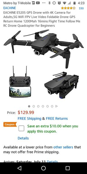 DRONE GPS,5G 4K CAMERA + XTRA BATTERY. OBO for Sale in Los Angeles, CA