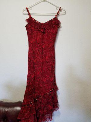 Dress - Red Floral Ruffles Silk Flamenco Spanish for Sale in Santa Ana, CA