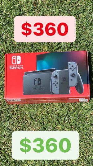 NEW* Nintendo Switch Console 32GB V2 gray black neon grey red blue joy con for Sale in Whittier, CA