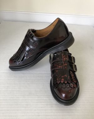 NEW Dr Doc Martens Red Leather Ellaria Double Monk Strap Kiltie Sz 5 Retail $209. Red cherry leather, front tortoise shell markings. See pics for col for Sale in Washington, DC