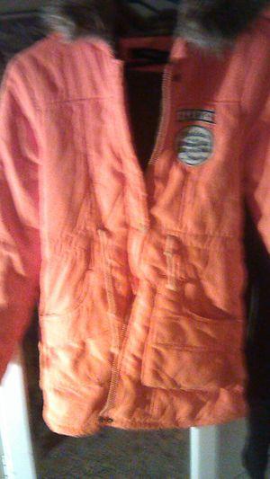 Kids winter jacket size small 10 faux fur lined parka type jacket for Sale in Oceanside, CA