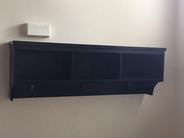 Black wall storage shelf