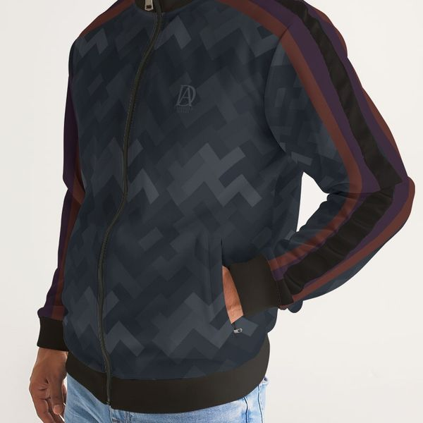 DeMarcus Alexan Stripe Blocks Stripe Jacket