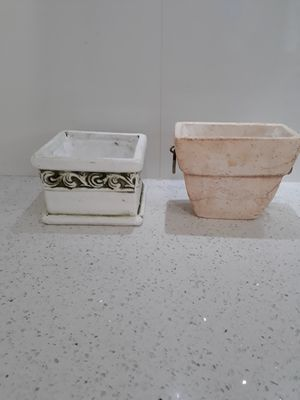 2 sets of 2 pots. Total 4. Plants not included. They can be painted any color. for Sale in Coral Gables, FL