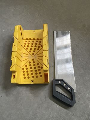 Stanley mitre box with a saw for Sale in Las Vegas, NV