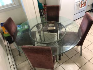 Dining table with 6 chairs for Sale in Milford, MA