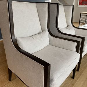 French Contemporary Slope Arm Wingback Chair - 2500 For Pair (will Sell Indic) for Sale in Bothell, WA