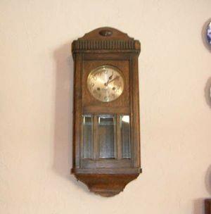 DUFA Oak Mission style wall clock with beveled glass for Sale in Prescott, AZ